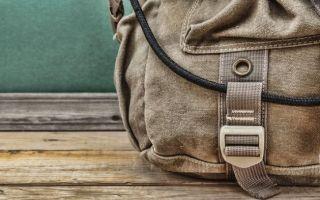 Стирка рюкзака пошагово