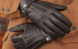 Стирка перчаток из кожи – стираем на себе!