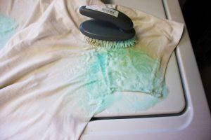 Зеленка на одежде