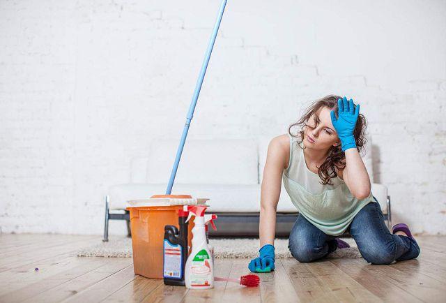 Влажная уборка в квартире
